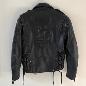 Harley Davidson Braided Leather Motorcycle Jacket